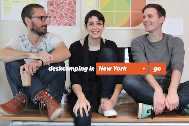 Deskcamping is a recently launched Airbnb-type website for office space.