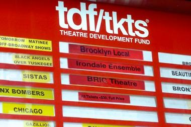 The TKTS booth now sells tickets to shows at the Irondale Center, American Opera Projects and BRIC Theater.