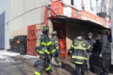 No injuries reported, but the fire caused severe damage to a second-floor apartment the FDNY said.