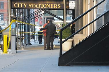 Two men were shot early Friday on West 24th Street and rushed to Bellevue Hospital, officials said.