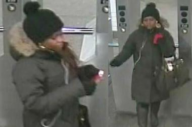 Police are searching for a suspect who they say punched a 24-year-old woman at the Hoyt-Schermerhorn train station in Downtown Brooklyn.