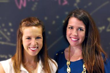 Miriam Altman (left) and Alexandra Meis founded Kinvolved as a way to let teachers report student lateness or absenteeism to parents in real time. The duo are also focusing on behavior issues and grades.