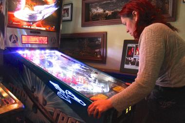 The Creek and the Cave boasts seven pinball machines, the most in Queens, according to its owner.