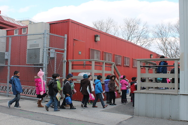 Woodside's P.S. 11 is getting a permanent addition to replace its longtime trailer classrooms.