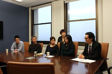 The family of Ryo Oyamada and their attorney held a press conference on Feb. 21, 2014, a year after his death.