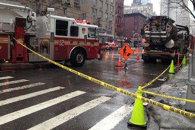 Part of Sixth Avenue was closed as crews investigated an electrical condition in Chelsea, the FDNY said.