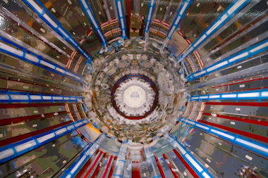 Timothy Tomkins created his paintings from the symmetry of the Large Hadron Collider.