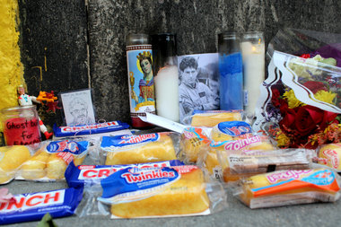"Fans of actor, writer, and director Harold Ramis created a memorial outside the TriBeCa stationhouse that served as the headquarters for the 1984 comedy ""Ghostbusters."""