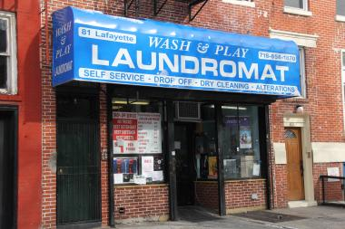 On February 4, the Wash and Play Laundromat in Fort Greene was robbed, according to NYPD.