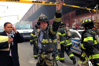 First responders swarmed 1646 Park Ave. near East 116th Street after an explosion there about 9:30 a.m. March 12, 2014.