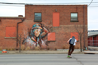 Rockaway Beach, Muscota New School and Amistad Dual Language School will get murals from artist Alice Pasquini in April 2014.