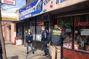 Authorities raided 184th Street Pharmacy on Tuesday, March 11, 2014.