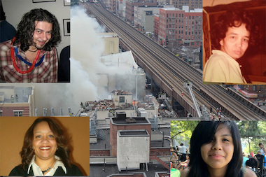 Clockwise from top left, Andreas Panagopoulos, 44, Carmen Tanco, 67, Rosaura Hernandez, 21, and Griselde Camacho were all killed in the East Harlem building explosion on Wednesday, March 12, 2014.