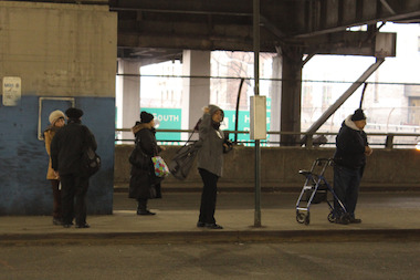 Riders weren't given notice when M4 bus stops at the GWB Bus terminal were removed.