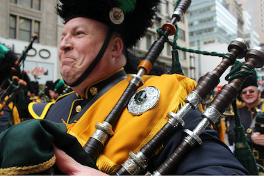 Thousands braved the frigid temperatures to celebrate St. Patrick's Day in Midtown.