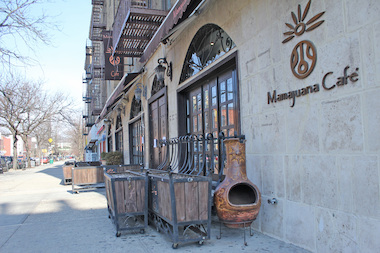 Mamajuana Cafe is in danger of losing its sidewalk café after Community Board 12 voted against it Tuesday night.