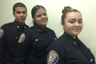 Members of the 20th Precinct's NYPD Explorers program.