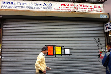 Mollika Video on 37th Road was shuttered Saturday by the NYPD.