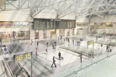 A rendering of the proposed Moynihan Station.