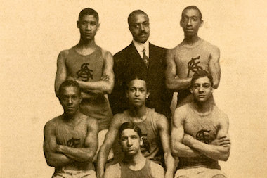 A new exhibit at the New York Historical Society celebrates the African-American basketball teams, players, and culture that came long before the NBA.