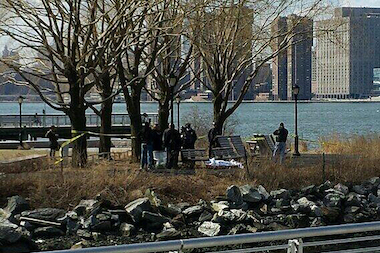 The body of an Astoria woman was found in the water near Gantry Park on Saturday.