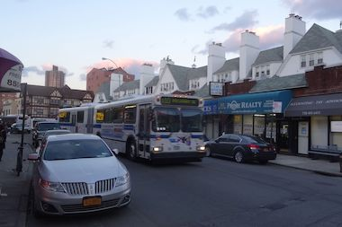 Beginning in April, the Q10 line will be served exclusively by long, articulated buses, the MTA say.