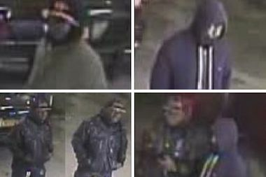 Police are looking for three suspects who robbed a livery cab company in Queens last week.