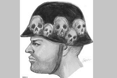 Police have released a sketch of this man, who they say struck an officer with his ATV in Brooklyn on Sunday and then fled the scene.