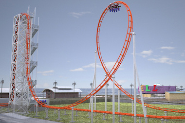 "Construction began for the new Coney Island ""Thunderbolt"" roller coaster on Monday, March 10, 2014."