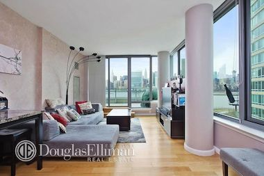 A one bedroom apartment at 46-30 Center Blvd. in Long Island City, listed by Douglas Elliman for $1.2 million.