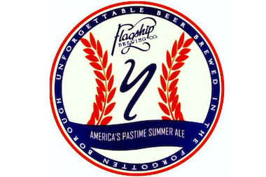 The soon-to-open brewery poured their first pints of the Summer Ale brewed specially for the team.