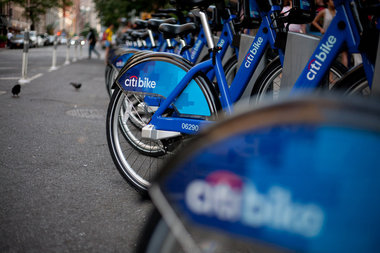 "A Citi Bike station in New York. A similar dock was removed from Brooklyn Heights due to ""last minute ConEd work,"" Citi Bike tweeted on Wednesday."