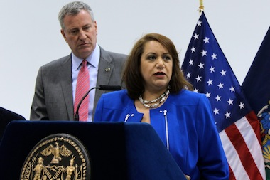 The new commissioner for the Mayor's Office of Media and Entertainment, Cynthia López, during the announcement of her appointment on April 18, 2014.