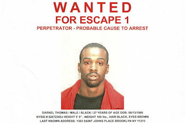 Police say Darnell Thomas is wanted in the 77th Precinct where they believe he last lived.
