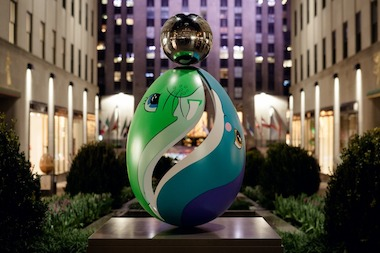 The Faberge Big Egg Hunt takes place from April 1st through April 17th.