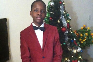 Gama Droiville, 13, was shot twice in the head outside a Flatbush Avenue pizza shop Monday.