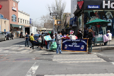 Children from Head Start partnered with the 161st St BID to celebrate Earth Day in the South Bronx.