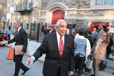 Two challengers vying for the congressional seat held by Rep. Charles Rangel aggressively criticized the incumbent for caring more about himself than his district during a feisty debate Thursday, March 10, 2014 at Abyssinian Baptist Church. Rangel rebuffed the advances of State Sen. Adriano Espaillat and the Rev. Michael Walrond by repeatedly referencing his experience and relationship with President Obama as reasons why voters in an ethnically, racially and economically evolving district should send him back to Washington for a 23rd term.