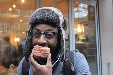 "Lester Sykes, 26, said the Cronut tasted ""churro-like."""