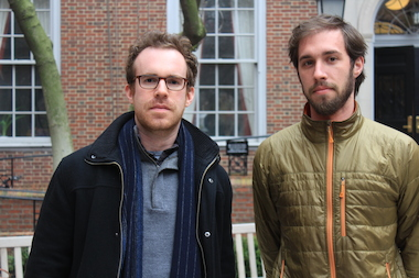 NYU Law students Leo Gertner, left, and Luke Herrine, right, were subpoenaed by attorneys for a law school trustee's company after they publicly criticized the trustee's labor practices.