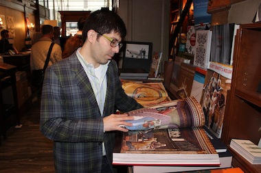 Miles Ladin, 45, loved the art books at the Rizzoli Bookstore.
