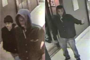 A man and woman robbed a man in his Times Square hotel room, police said.