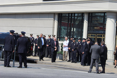 Mourners included the family of Officer Rosa Rodriguez, who also responded to the Coney Island fire.