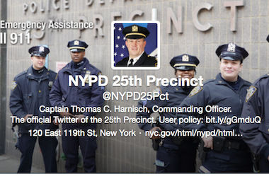 The 25th Precinct's Twitter page.