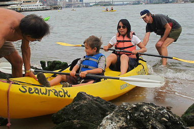 Stuyvesant Cove Park will offer free kayaking to the public on three weekends in July and August.