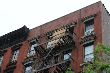 The building was evacuated when the facade at the fifth and sixth floor buckled.
