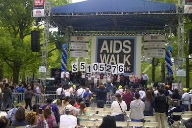 AIDS Walk New York raised just over $5.1 million on Sunday, which is down from past years.