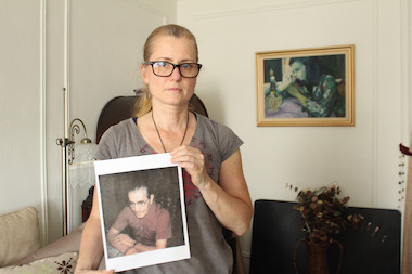 Annette Diiorio holds a photo of her grandfather, Diodato. A painting of her grandfather was stolen from her car the week of May 23, 2014.
