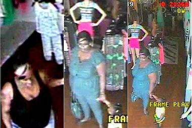 Two women distracted the clerk and sent a child behind a register to steal a wallet in a Bayside clothing store, the NYPD said.
