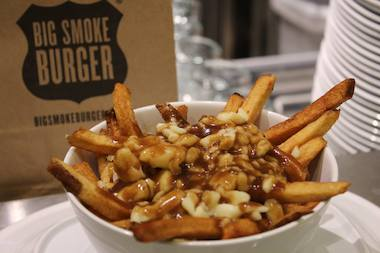 Big Smoke Burger will bring poutine — made with real cheese curds — to Chelsea.